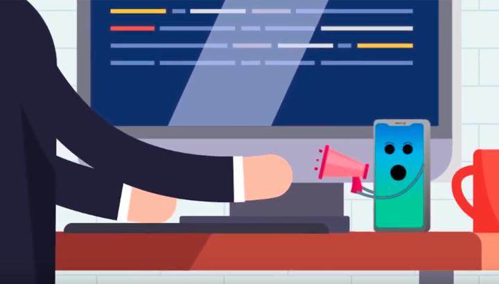Animação | Uso consciente de celular no ambiente de trabalho