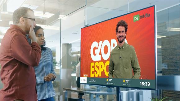Novidade: TV aberta no mural digital da empresa