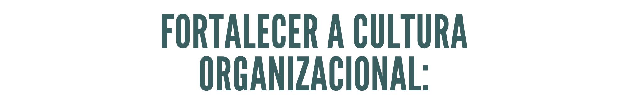 fortalecer a cultura organizacional motivação